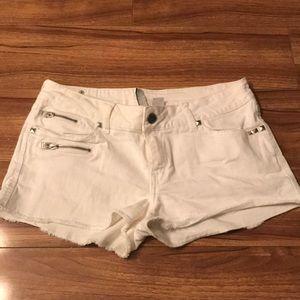 White studded shorts